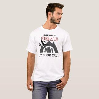 Ik wil in Mijn Hol van het Boek lezen T Shirt
