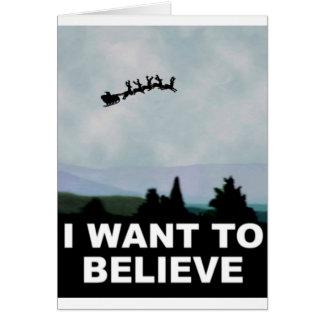 Ik wil Kerstman geloven Wenskaart