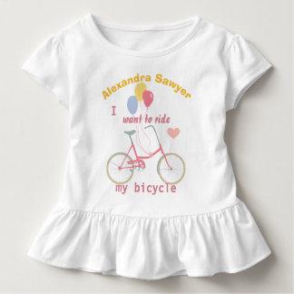 Ik wil mijn Ballons van de fiets Vintage Fiets Kinder Shirts