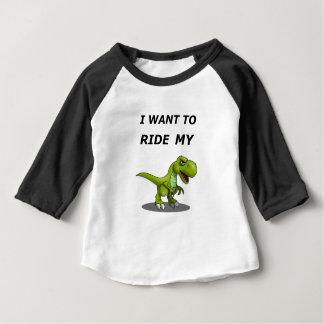 Ik wil Mijn berijden Baby T Shirts