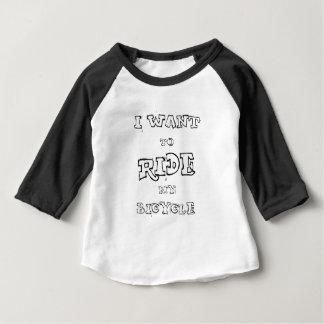 Ik wil Mijn Fiets berijden Baby T Shirts