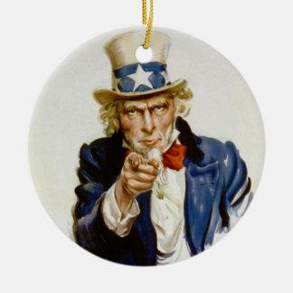 Ik wil u voor het Leger van de V.S. door James Rond Keramisch Ornament