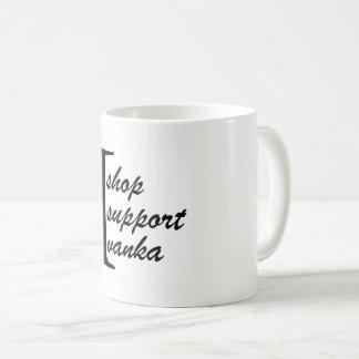 Ik winkel, steun ik, de Mok van de Koffie Ivanka