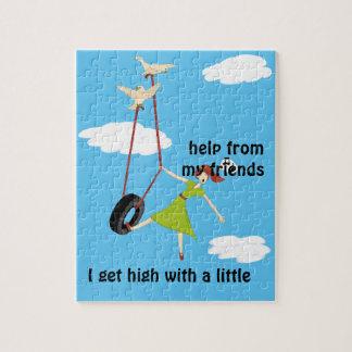 Ik word Hoog met een Kleine Hulp van Mijn Vrienden Legpuzzel