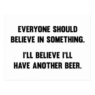 Ik zal geloven ik Een ander Bier zal hebben Briefkaart