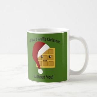 Ik zal Kerstmis van de Wafel zonder u hebben Koffiemok