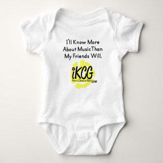"""""""Ik zal meer…"""" kennen iKCG logowear voor baby Romper"""