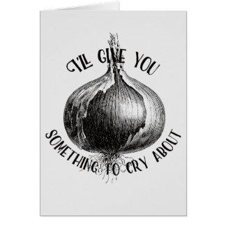 Ik zal u iets aan Schreeuw over Ontwerp geven Briefkaarten 0
