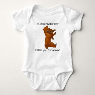 Ik zal van u voor altijd babykleding houden t-shirts