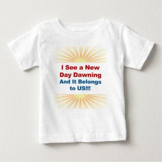 Ik zie een Nieuwe Dag dagend en het behoort tot Baby T Shirts