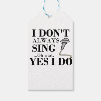 Ik zing niet altijd… ja ik cadeaulabel