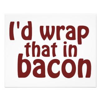 Ik zou dat in Bacon verpakken Flyer 11,4 X 14,2 Cm