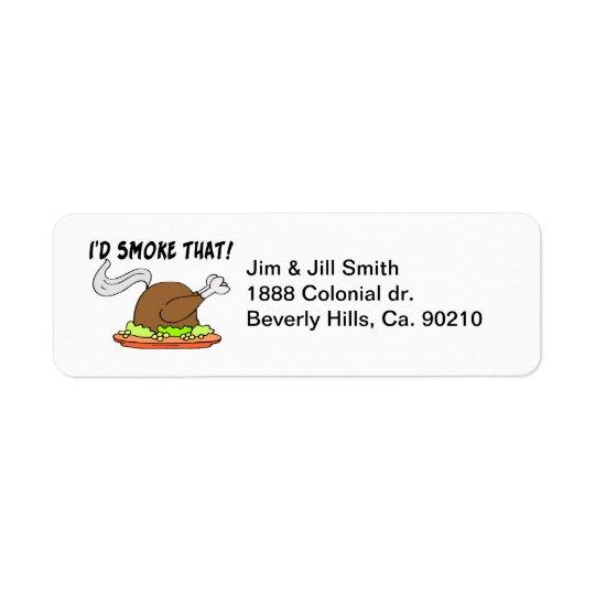 Ik zou Dat Turkije roken Retouretiket