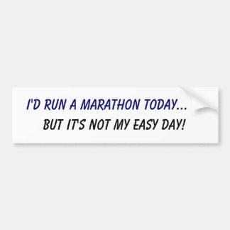 Ik zou een marathon… in werking stellen maar het i bumpersticker