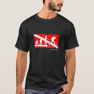 Ik zou eerder, de evolutiet-shirt van de t shirt
