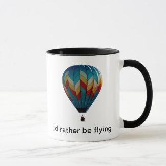 Ik zou eerder de koffiemok van de hete luchtballon