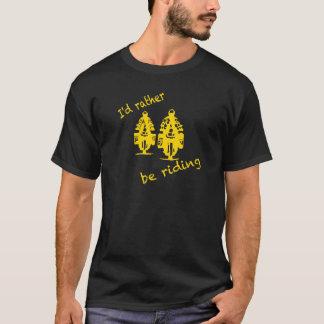 Ik zou eerder - gele druk berijden t shirt