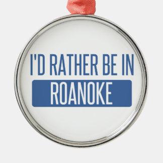 Ik zou eerder in de Heuvels van Rochester zijn Zilverkleurig Rond Ornament