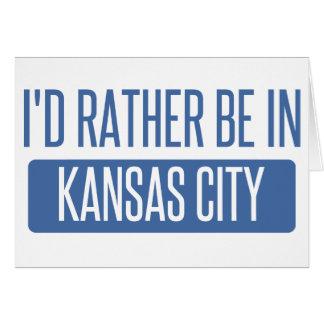 Ik zou eerder in de Stad KS van Kansas zijn Kaart
