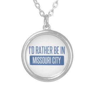 Ik zou eerder in de Stad van Missouri zijn Zilver Vergulden Ketting