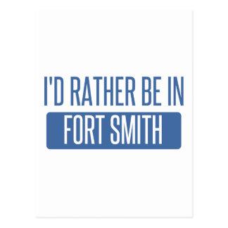Ik zou eerder in Fort Smith zijn Briefkaart