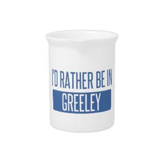 Ik zou eerder in Greeley zijn Bier Pitcher