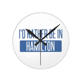 Ik zou eerder in Hamilton zijn Ronde Klok
