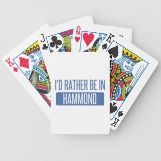 Ik zou eerder in Hammond zijn Poker Kaarten