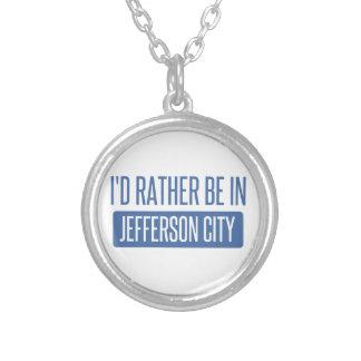 Ik zou eerder in Jefferson city zijn Zilver Vergulden Ketting
