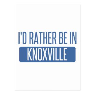Ik zou eerder in Knoxville zijn Briefkaart