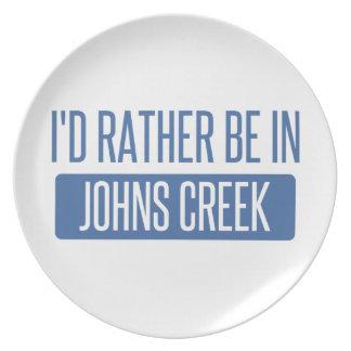 Ik zou eerder in Kreek Johns zijn Bord