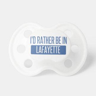 Ik zou eerder in La van Lafayette zijn Speen