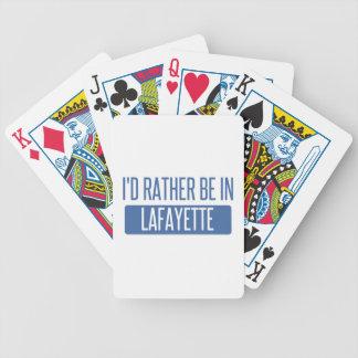 Ik zou eerder in Lafayette BINNEN zijn Bicycle Speelkaarten