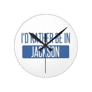 Ik zou eerder in lidstaten van Jackson zijn Ronde Klok