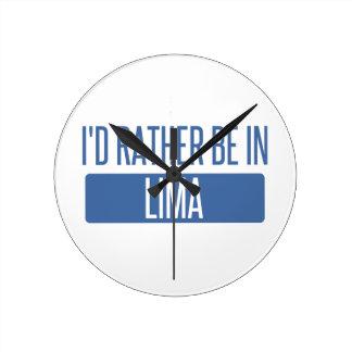 Ik zou eerder in Lima zijn Ronde Klok