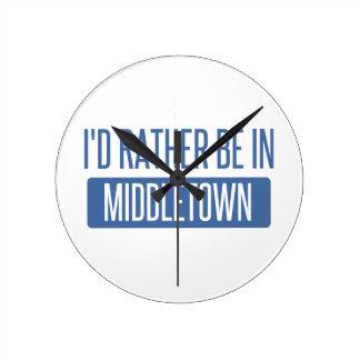 Ik zou eerder in Middletown OH zijn Ronde Klok