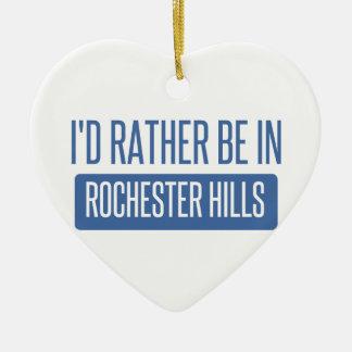 Ik zou eerder in Mn van Rochester zijn Keramisch Hart Ornament