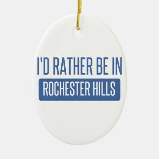 Ik zou eerder in Mn van Rochester zijn Keramisch Ovaal Ornament