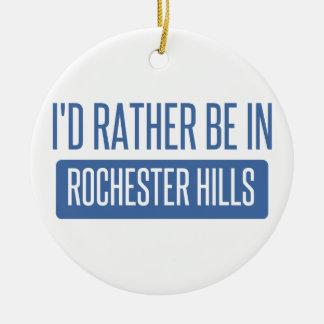 Ik zou eerder in Mn van Rochester zijn Rond Keramisch Ornament
