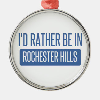 Ik zou eerder in Mn van Rochester zijn Zilverkleurig Rond Ornament