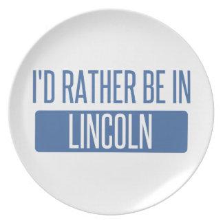 Ik zou eerder in Ne van Lincoln zijn Melamine+bord
