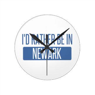 Ik zou eerder in Newark OH zijn Ronde Klok Medium