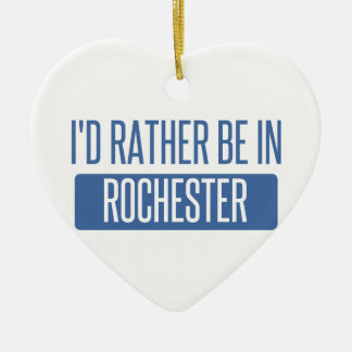 Ik zou eerder in NY van Rochester zijn Keramisch Hart Ornament