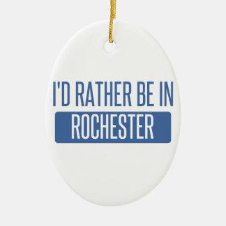 Ik zou eerder in NY van Rochester zijn Keramisch Ovaal Ornament