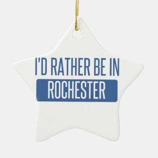 Ik zou eerder in NY van Rochester zijn Keramisch Ster Ornament