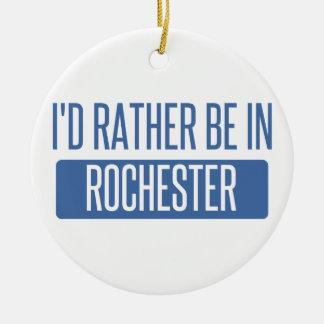 Ik zou eerder in NY van Rochester zijn Rond Keramisch Ornament