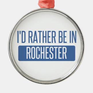 Ik zou eerder in NY van Rochester zijn Zilverkleurig Rond Ornament