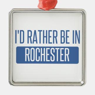 Ik zou eerder in NY van Rochester zijn Zilverkleurig Vierkant Ornament