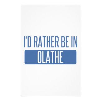Ik zou eerder in Olathe zijn Aangepast Briefpapier