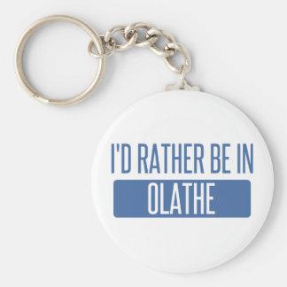 Ik zou eerder in Olathe zijn Basic Ronde Button Sleutelhanger